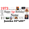 1973 JUMBO PERSONALIZED BANNER PARTY SUPPLIES
