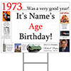 1973 PERSONALIZED YARD SIGN PARTY SUPPLIES