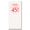 1974 - 45TH BIRTHDAY DINNER NAPKIN PARTY SUPPLIES