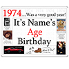 1974 CUSTOMIZED DOOR POSTER PARTY SUPPLIES