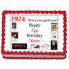 1974 PERSONALIZED EDIBLE ICING IMAGE PARTY SUPPLIES