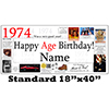 1974 PERSONALIZED BANNER PARTY SUPPLIES