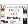1975 - 44TH BIRTHDAY PLACEMAT PARTY SUPPLIES