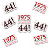 1975 - 44TH BIRTHDAY STICKER SEAL PARTY SUPPLIES