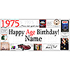 1975 DELUXE PERSONALIZED BANNER PARTY SUPPLIES