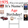 1975 PERSONALIZED YARD SIGN PARTY SUPPLIES