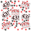 1976 - 43RD BIRTHDAY DECO FETTI PARTY SUPPLIES