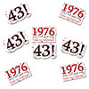 1976 - 43RD BIRTHDAY STICKER SEAL 24/PKG PARTY SUPPLIES