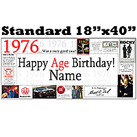 1976 PERSONALIZED BANNER PARTY SUPPLIES