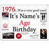 1976 CUSTOMIZED DOOR POSTER PARTY SUPPLIES