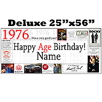 1976 DELUXE PERSONALIZED BANNER PARTY SUPPLIES