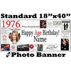1976 CUSTOM PHOTO BANNER PARTY SUPPLIES