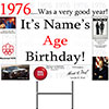 1976 PERSONALIZED YARD SIGN PARTY SUPPLIES