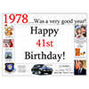 1978 - 41ST BIRTHDAY PLACEMAT PARTY SUPPLIES