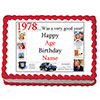 1978 PERSONALIZED EDIBLE CAKE IMAGE PARTY SUPPLIES