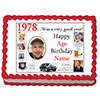 1978 PERSONALIZED EDIBLE PHOTO CAKE IMGE PARTY SUPPLIES
