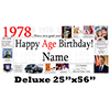 1978 DELUXE PERSONALIZED BANNER PARTY SUPPLIES