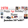 1978 JUMBO PERSONALIZED BANNER PARTY SUPPLIES