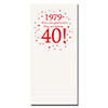 1979 - 40TH BIRTHDAY DINNER NAPKIN PARTY SUPPLIES