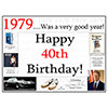 1979 - 40TH BIRTHDAY PLACEMAT PARTY SUPPLIES