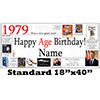 1979 PERSONALIZED BANNER PARTY SUPPLIES
