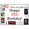 1982 - 37TH BIRTHDAY PLACEMAT PARTY SUPPLIES