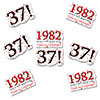1982 - 37TH BIRTHDAY STICKER SEAL PARTY SUPPLIES