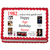 1982 PERSONALIZED ICING ART PARTY SUPPLIES