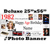1982 CUSTOM PHOTO DELUXE BANNER PARTY SUPPLIES