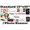 1982 CUSTOM PHOTO BANNER PARTY SUPPLIES