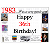 1983 - 36TH BIRTHDAY PLACEMAT PARTY SUPPLIES