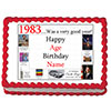 1983 PERSONALIZED EDIBLE CAKE IMAGE PARTY SUPPLIES