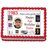 1983 PERSONALIZED EDIBLE PHOTO CAKE IMGE PARTY SUPPLIES
