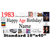 1983 PERSONALIZED BANNER PARTY SUPPLIES