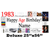 1983 DELUXE PERSONALIZED BANNER PARTY SUPPLIES