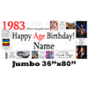1983 JUMBO PERSONALIZED BANNER PARTY SUPPLIES