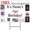 1983 PERSONALIZED YARD SIGN PARTY SUPPLIES