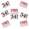 1985 - 34TH BIRTHDAY STICKER SEAL PARTY SUPPLIES