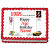 1985 PERSONALIZED ICING ART PARTY SUPPLIES