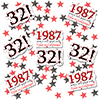 1987 - 32ND BIRTHDAY DECO FETTI PARTY SUPPLIES
