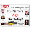 1987 CUSTOMIZED DOOR POSTER PARTY SUPPLIES