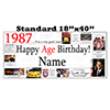 1987 PERSONALIZED BANNER PARTY SUPPLIES