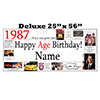 1987 DELUXE PERSONALIZED BANNER PARTY SUPPLIES
