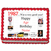 1987 PERSONALIZED ICING ART PARTY SUPPLIES