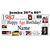 1987 JUMBO PERSONALIZED BANNER PARTY SUPPLIES