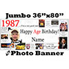 1987 CUSTOM PHOTO JUMBO BANNER PARTY SUPPLIES