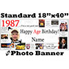 1987 CUSTOM PHOTO BANNER PARTY SUPPLIES