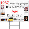 1987 PERSONALIZED YARD SIGN PARTY SUPPLIES