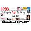 1988 PERSONALIZED BANNER PARTY SUPPLIES