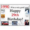 1990 - 29TH BIRTHDAY PLACEMAT PARTY SUPPLIES